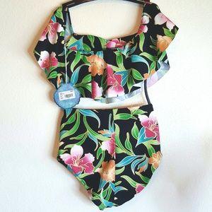 NWT Show me your Mumu tropical print bikini